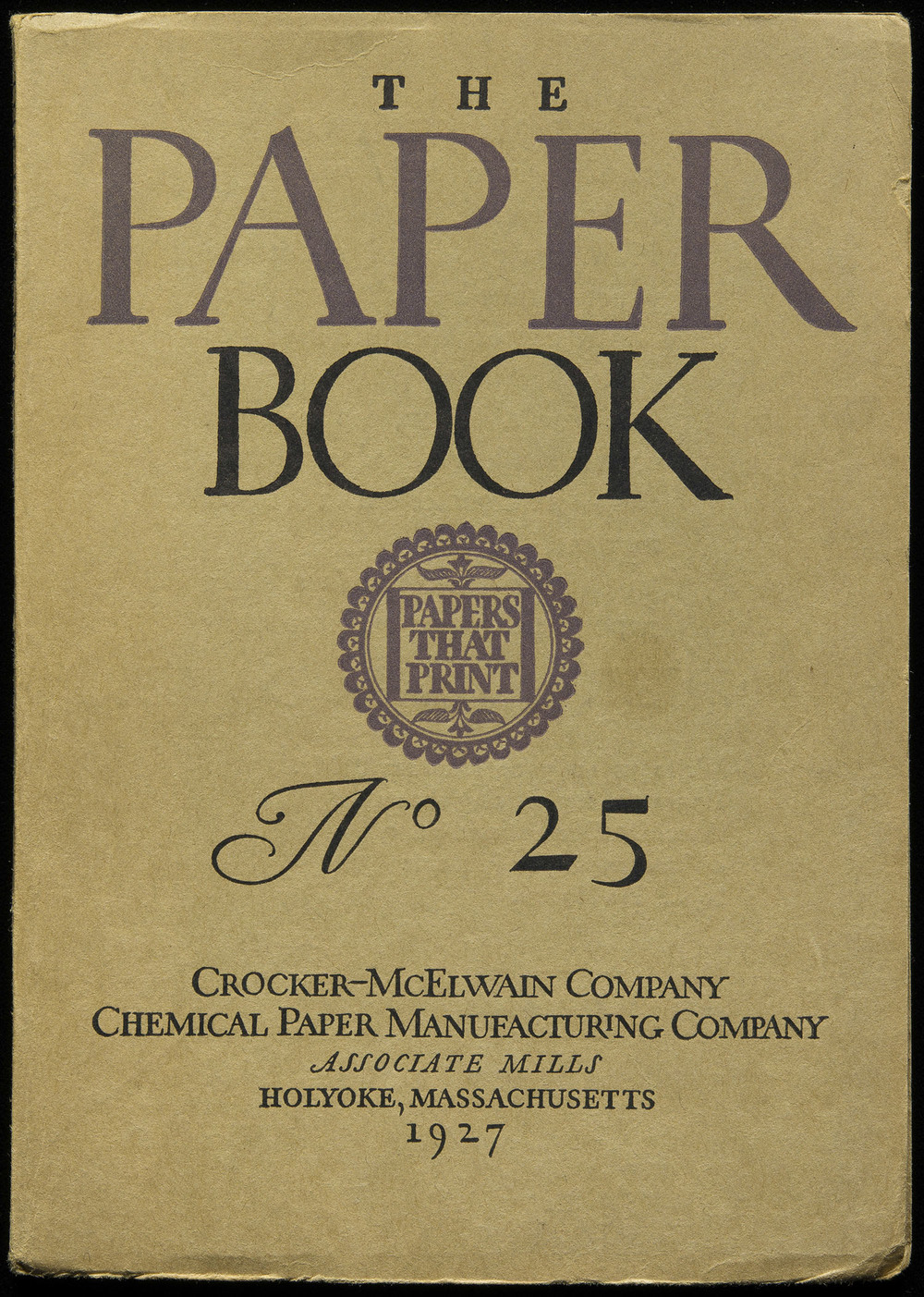 Cover design for  The Paper Book , 1927, 14 x 19.8 cm