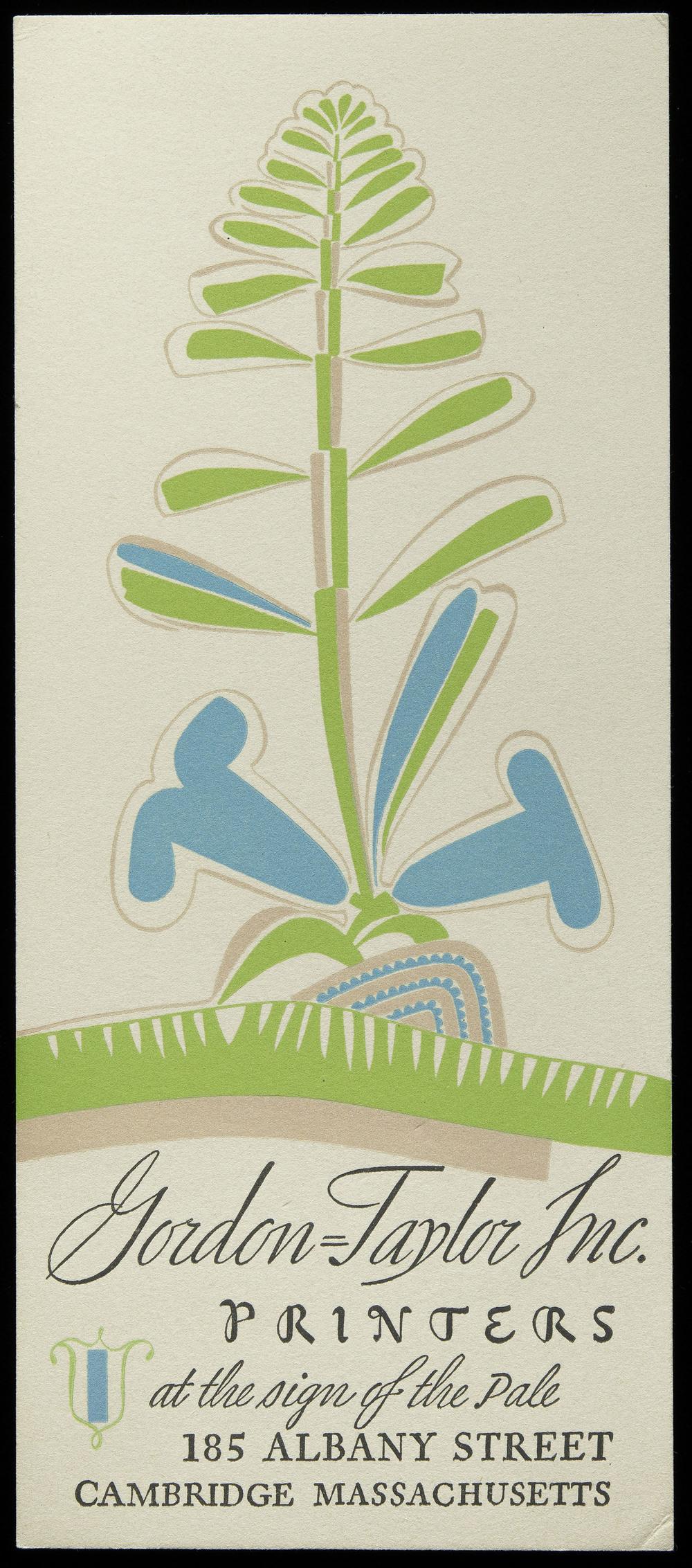 Promotional blotter, circa 1935, 10 x 23 cm