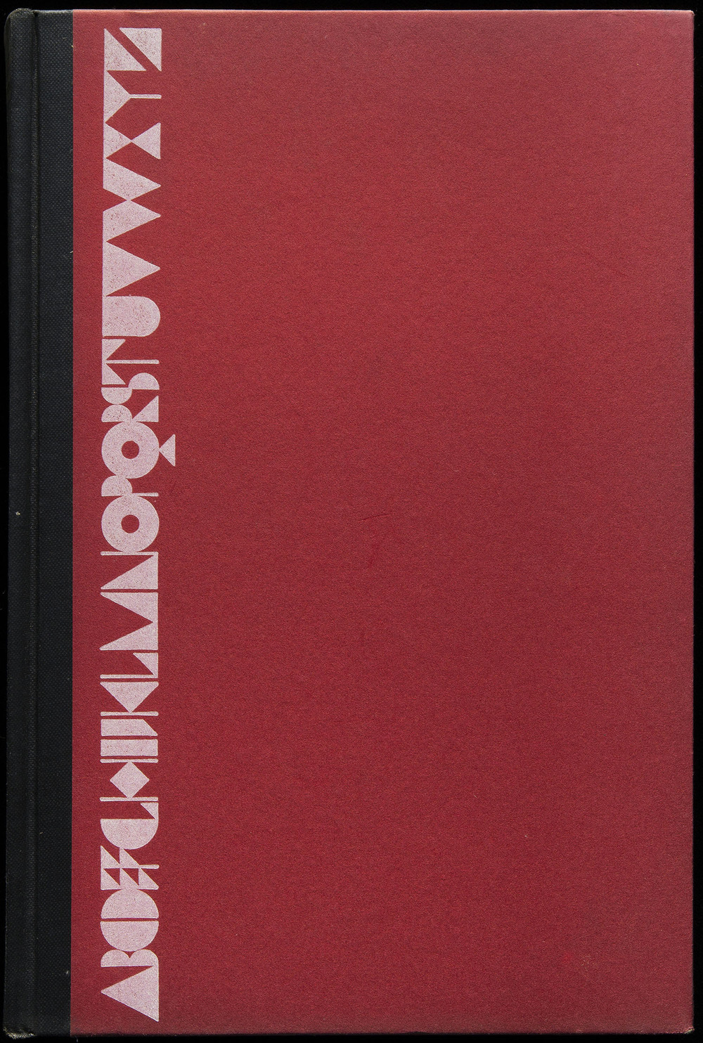Cover design of  American Alphabets  by Paul Hollister, Harper, New York, 1930, 14.9 x 22.5 cm