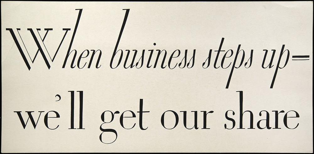 Advertisement for unknown client, 1920s, 28 x 13.5 cm