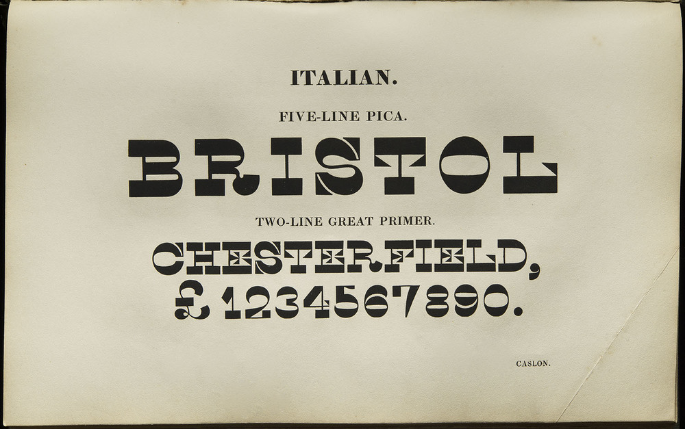 Henry Caslon,  Specimen of Printing Types , London, 1844, 24.3 x 15 cm