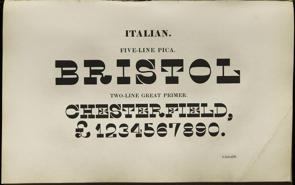 Henry Caslon,  Specimen of Printing Types , London, 1844, 24.3 x 15 cm