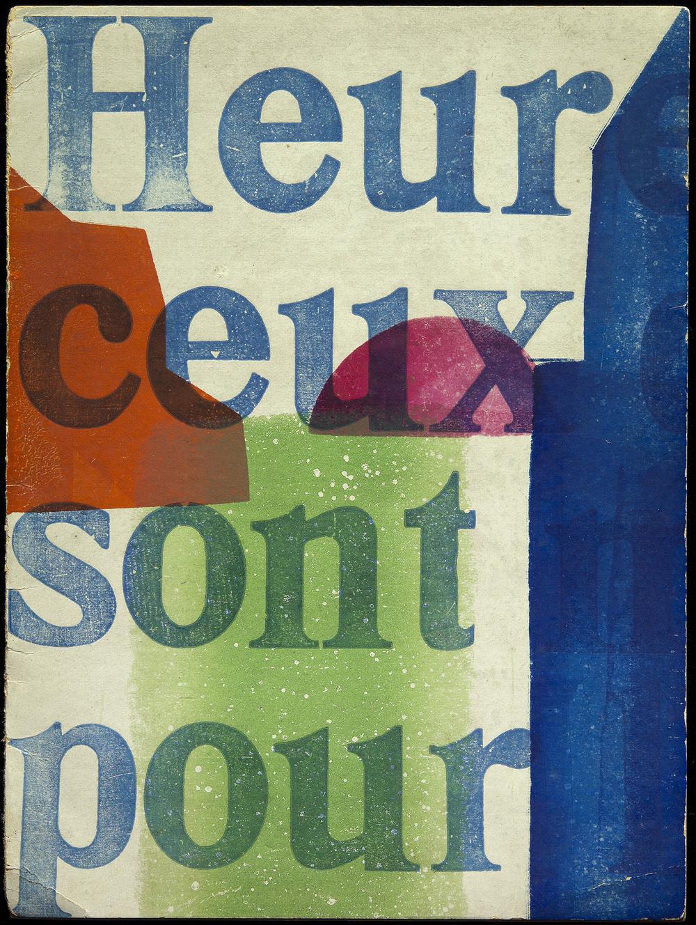 Hendrik Nicolaas Werkman,  Priere pour nous autres charnels  by Charles Peguy, De Blauwe Schuit, Heereveen, 1941, 15 x 20 cm