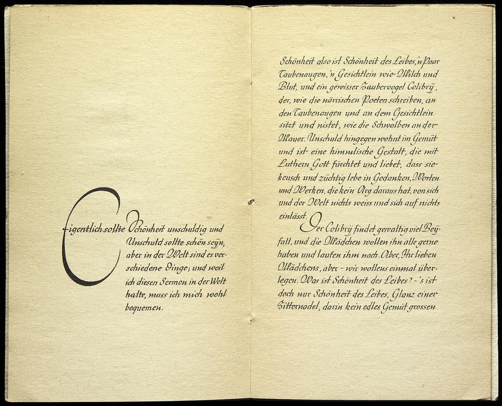 Rudo Spemann,  Sermon an die Mädchen  by Matthias Claudius, Wilhelm Langewiesche, Ebenhausen, 1936, 26 x 21.5 cm