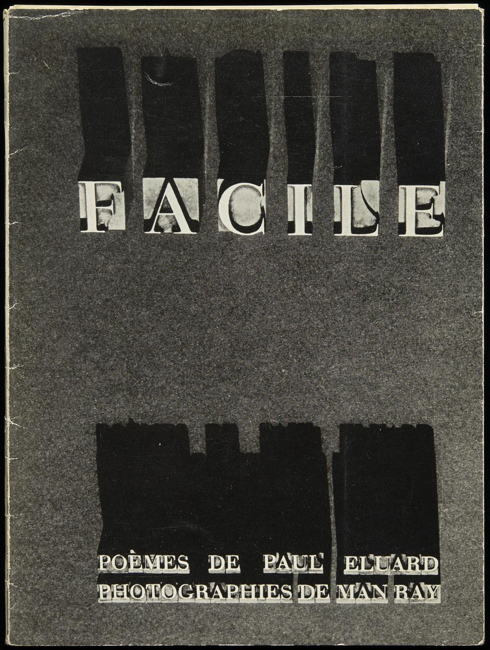 Man Ray,  Facile  by Paul Eluard, Editions GLM, Paris 1935, 18.3 x 24.5