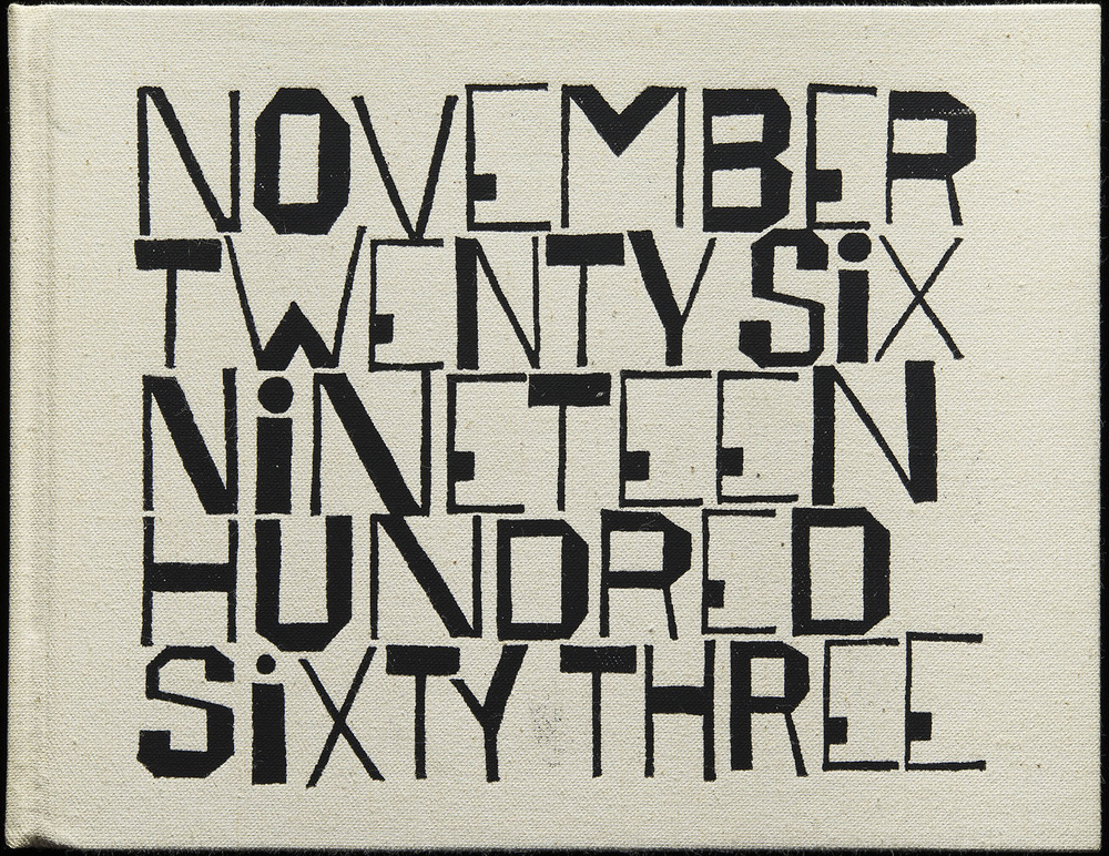 Ben Shahn,  November Twenty Six Nineteen Hundred Sixty Three  by Wendell Berry, George Braziller, New York, 1964, 23.5 x 18.3 cm