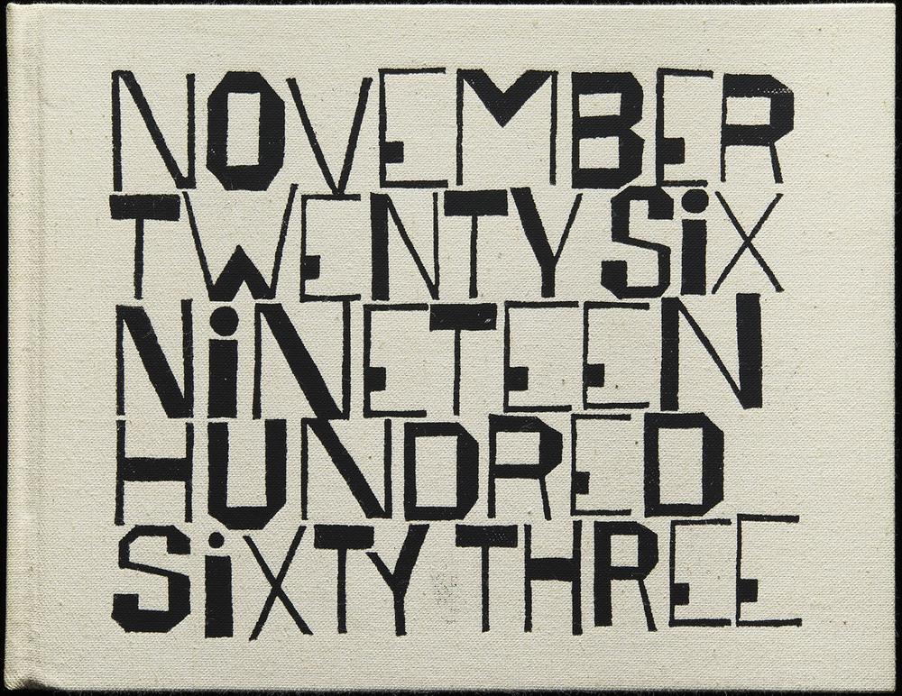 Ben Shahn,  November Twenty Six Nineteen Hundred Sixty Three  by Wendell Berry, George Braziller, New York, 1964, 23.5 x 18.3 cm