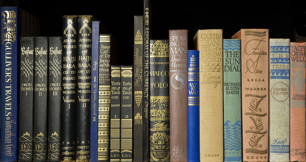 An assortment of shelf back designs
