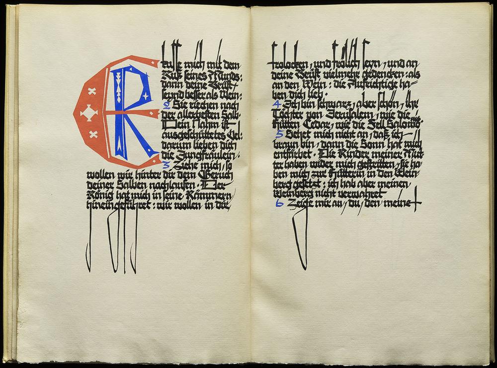 Will Weber,  Das Hohe Lied Salomonis , manuscript book, 1923, 34.8 x 25.6 cm