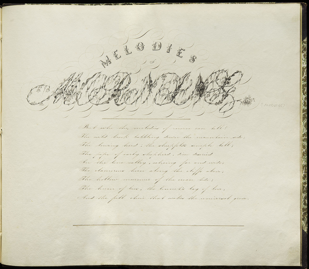 Joseph Stanyer, manuscript copybook, England, 1858, 36.5 x 31 cm