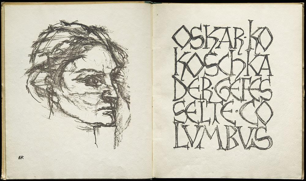 Emil Rudolf Weiss,  Der Gefesselte Columbus  by Oskar Kokoschka, Fritz Gurlitt Verlag, Berlin, 1921, 48 x 28.5 cm