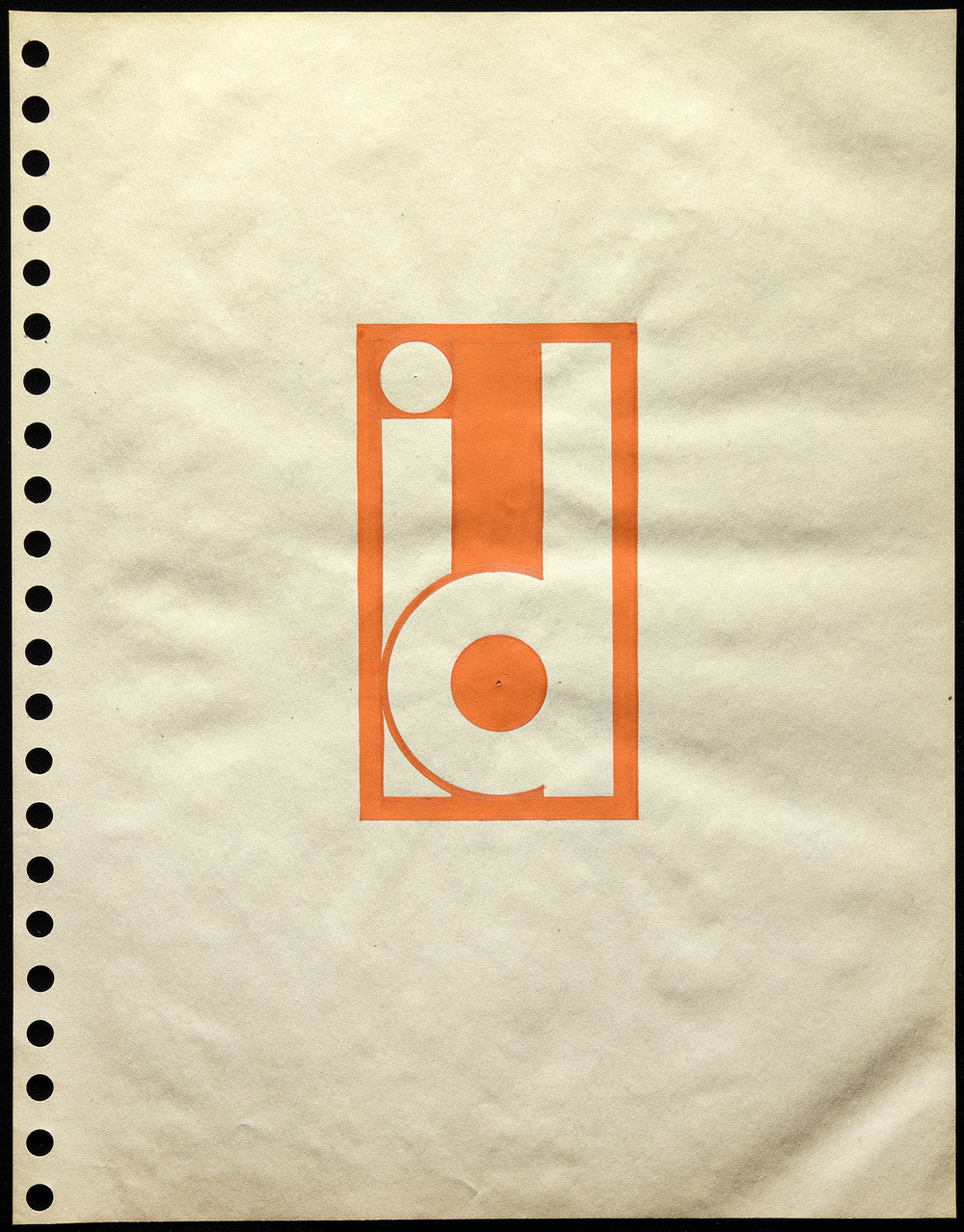 Walter Huxley, sketch for logotype, New York, circa 1935, 22 x 28.5 cm