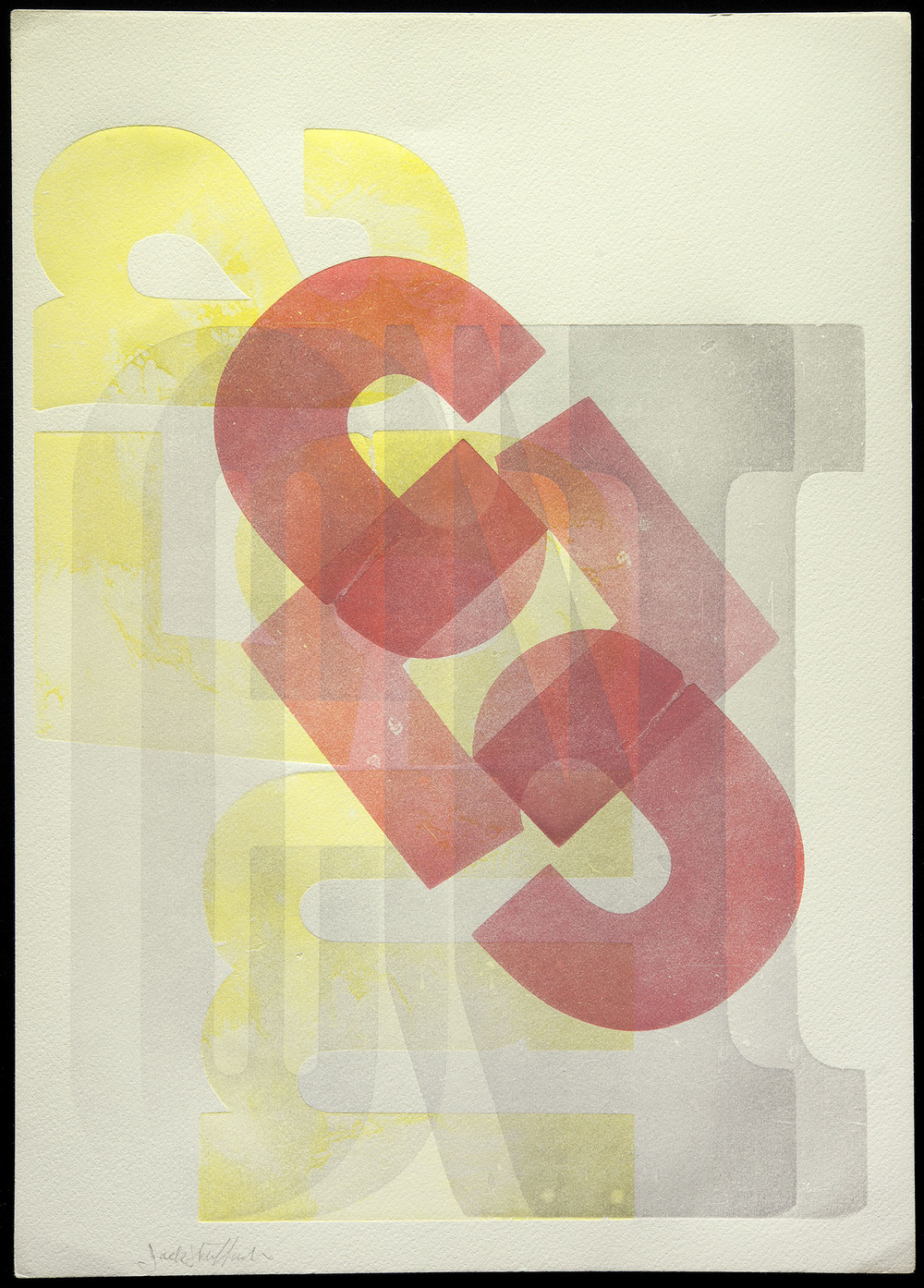 Jack Stauffacher, wood type print, San Francisco, no date, 25.4 x 35.5 cm
