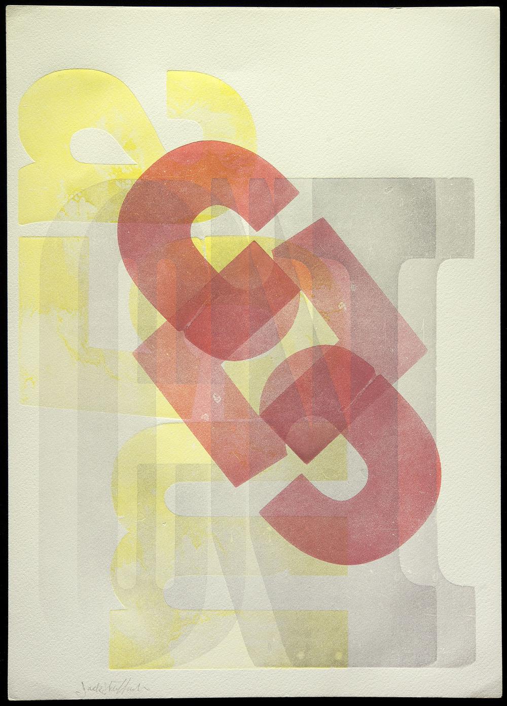 Jack Stauffacher, wood type print, San Francisco, no date, 25.4 x 35.5 cm