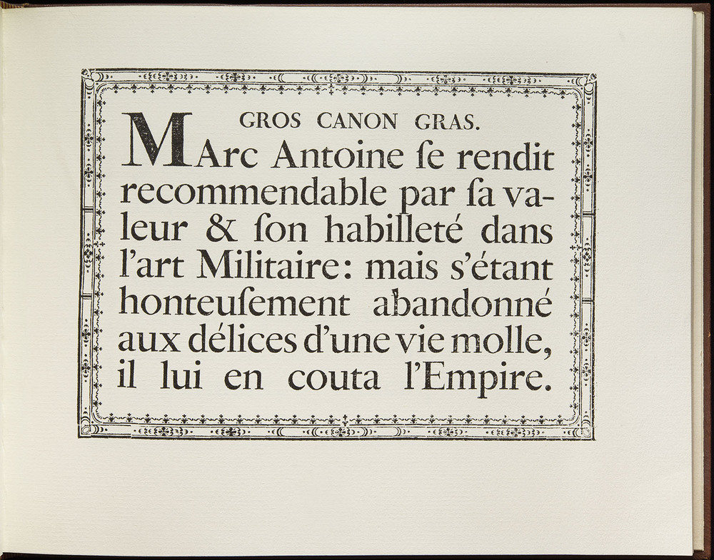 Pierre Simon Fournier,  Modéles des Caracteres de l'Imprimerie , Paris, 1742 (collotype facsimile, Eugrammia Press, London, 1965), 28.5 x 22.2 cm