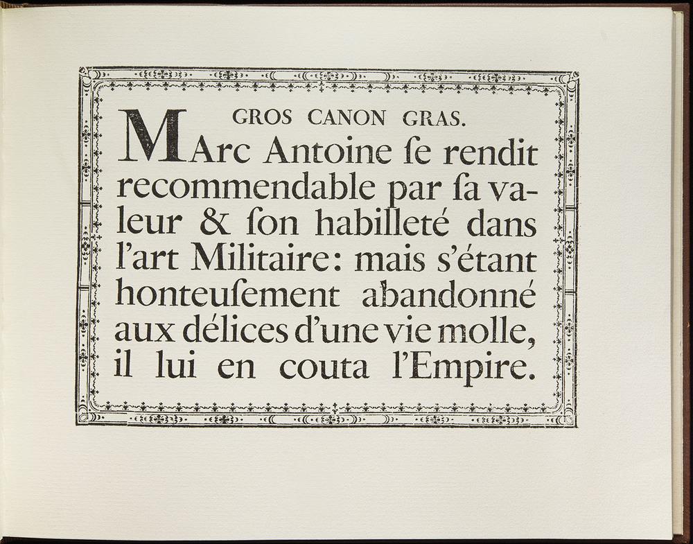 Pierre Simon Fournier,  Modéles des Caracteres de l'Imprimerie , Paris, 1742 (collotype facsimile, Eugrammia Press, London, 1965), 28.5 x 22.2 cm