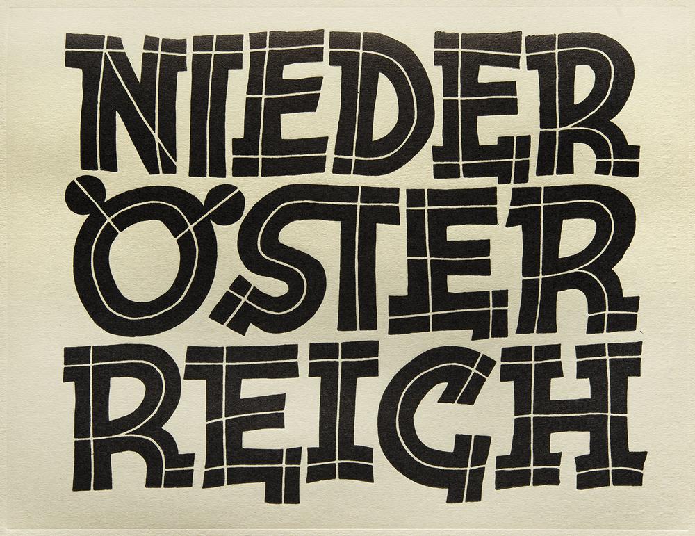 Arthur Schraml, detail of plate in  Ziele des Schrift-Unterrichts  by Fritz Helmuth Ehmcke, Diederichs, Jena, 1929, 17 x 12.5cm