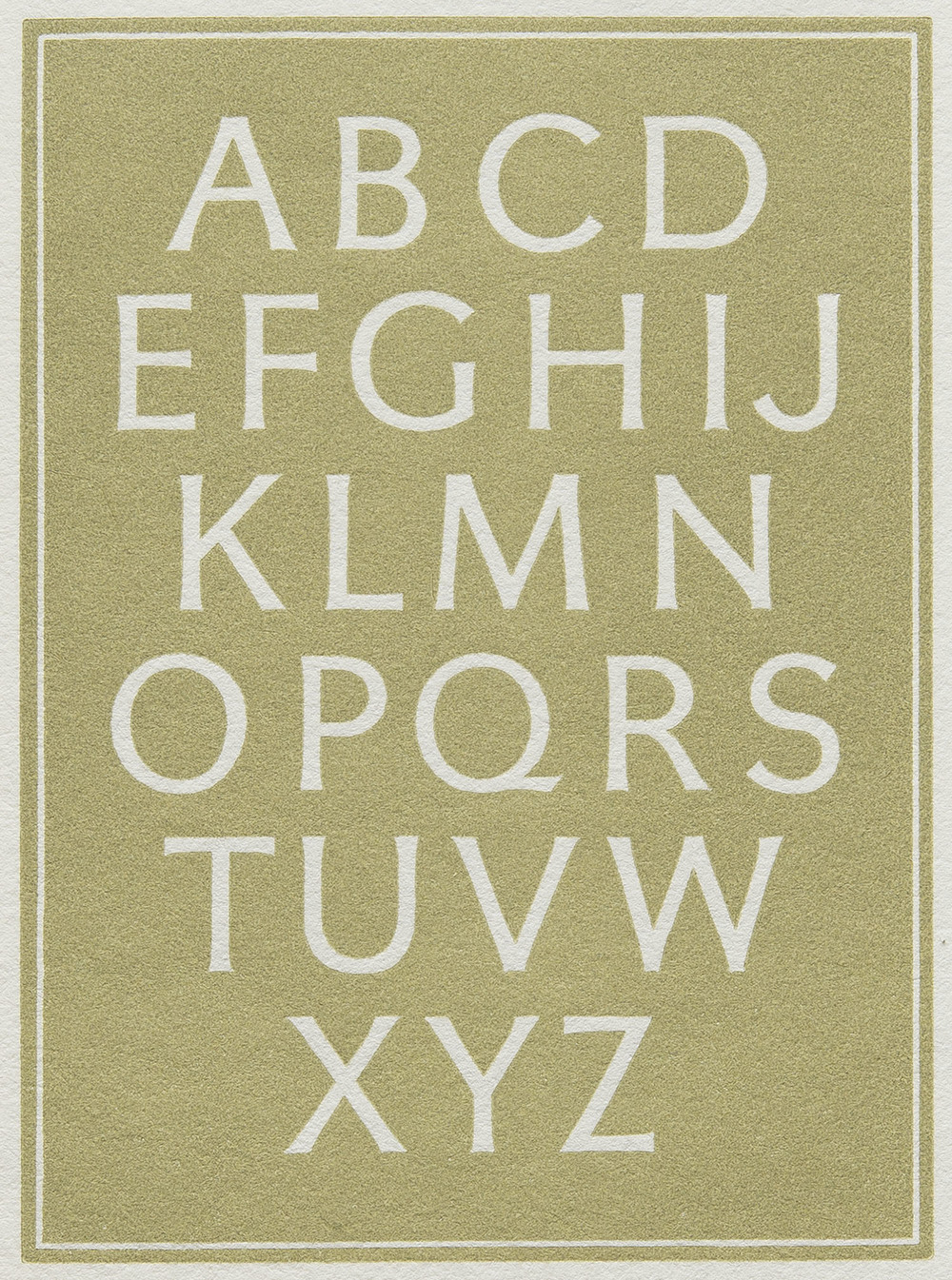 Leo Wyatt, detail of wood engraved plate in  Little Book of Alphabet s, The Florin Press, Biddenden Kent, 1985, 8 x 11 cm