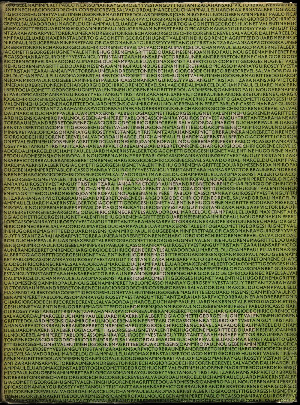 Georges Hugnet,  Petite Anthologie Poétique du Surréalisme , Éditions Jeanne Bucher, Paris, 1934, 14.2 x 19.2 cm