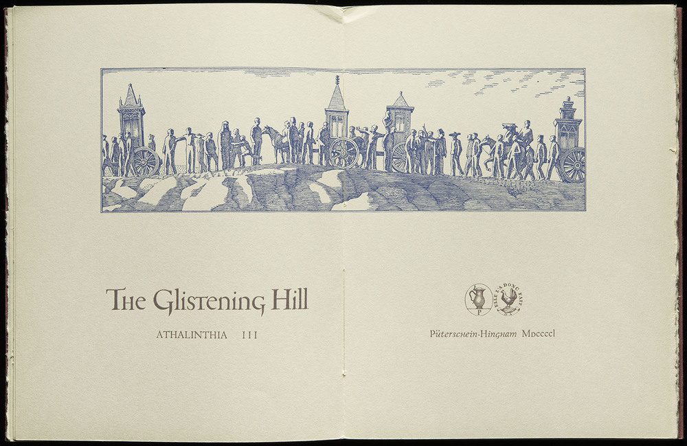 The Glistening Hill , Püterschein-Hingham, 1950, 29.2 x 19 cm