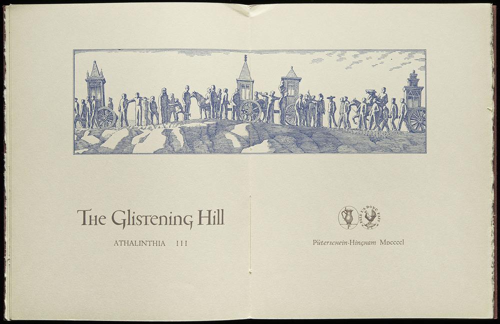 The Glistening Hill , Püterschein-Hingham, 1950, 29.2 x 19 cm