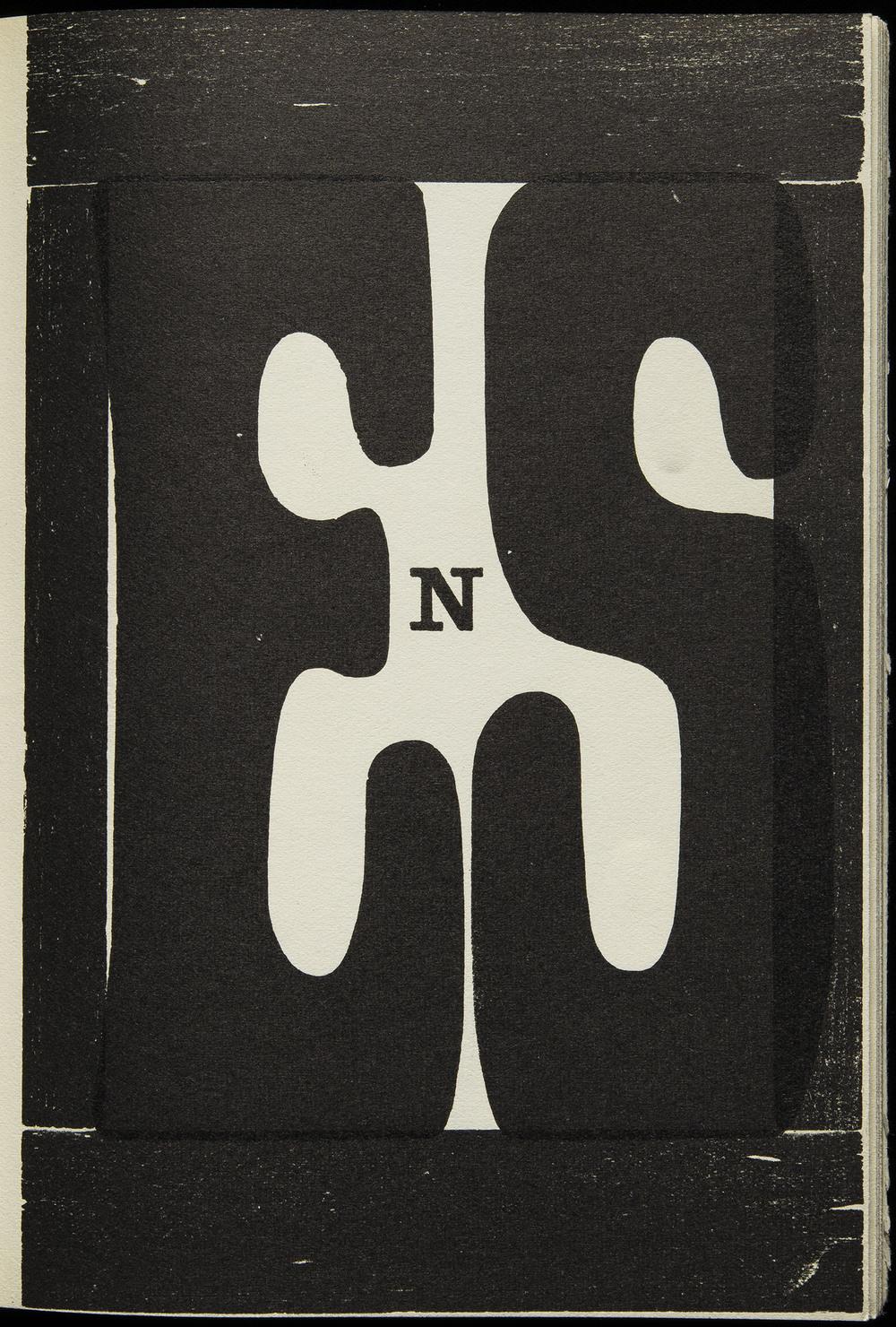 Hap Grieshaber,  Poesia Typographica , Galerie der Spiegel, Cologne, 1962, 15.4 x 21.5 cm