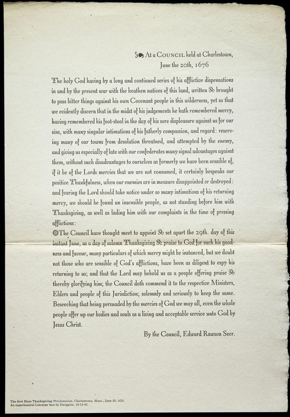 Trial proof sheet of  Charter , Mergenthaler Linotype, Brooklyn, 1942, 19.5 x 28.3 cm