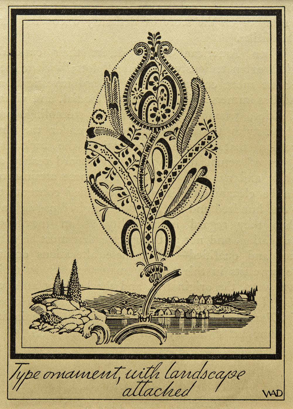 Illustration from  The Saturday Review , 1927, 7.7 x 10.5 cm