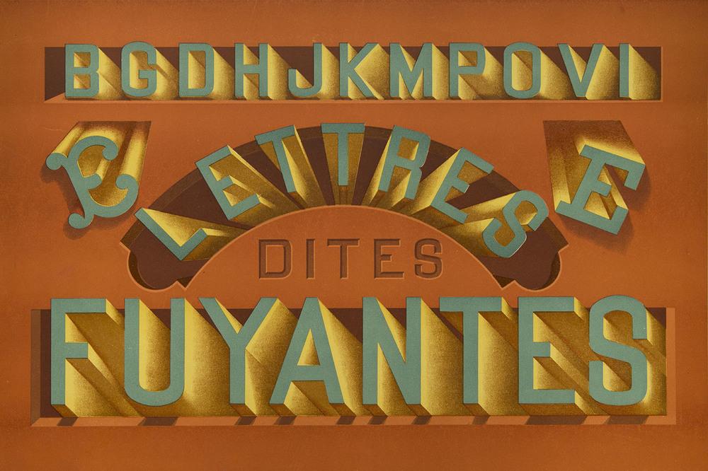 P. Fleury, detail of plate from Nouvel Album de Lettres Peintes , Libraries-Imprimeries Réunies, Paris, 1903, 38 x 25 cm