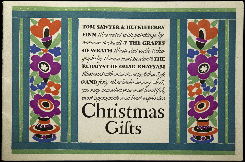Christmas catalogue for the Heritage Press, 1940, 24 x 16 cm