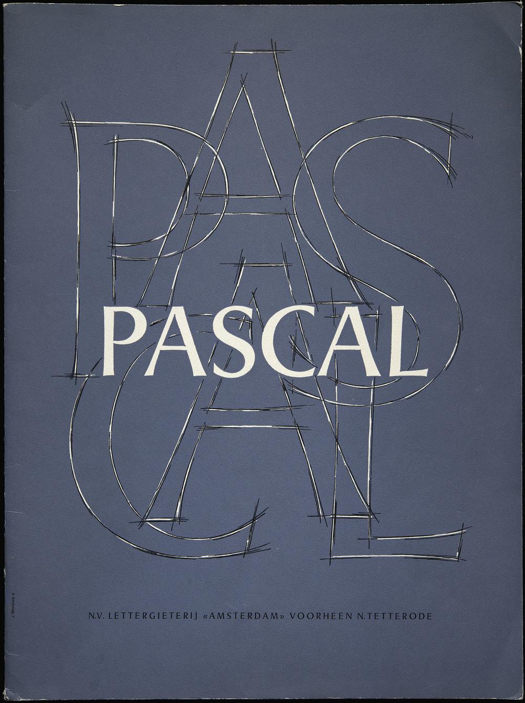 José Mendoza y Almeida, first specimen of  Pascal , Amsterdam, 1960, 21.8 x 29.1 cm