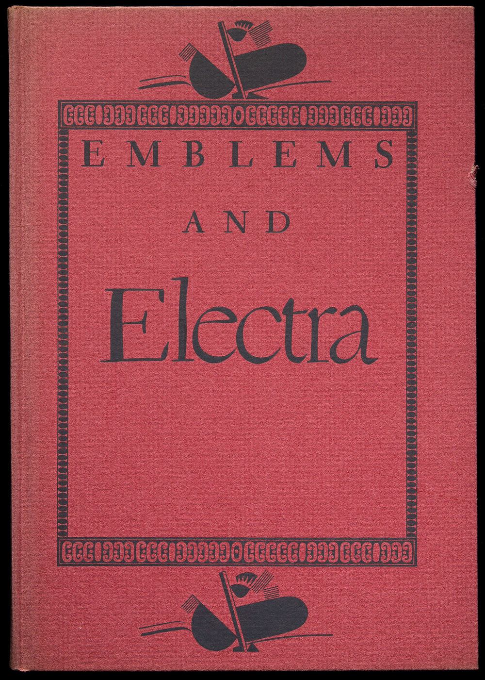 A Bakers Dozen of Emblems and Electra , Mergenthaler Linotype, Brooklyn, 1935, 14 x 20 cm