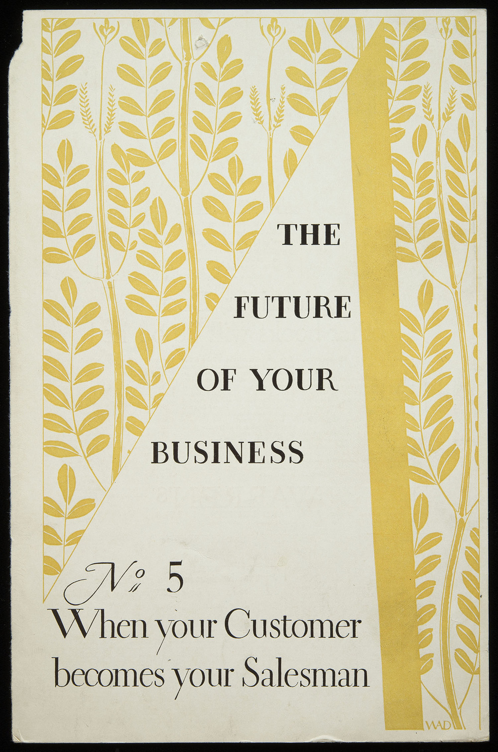 Advertisement for Warren's Paper, circa 1930, 15.5 x 23.5 cm