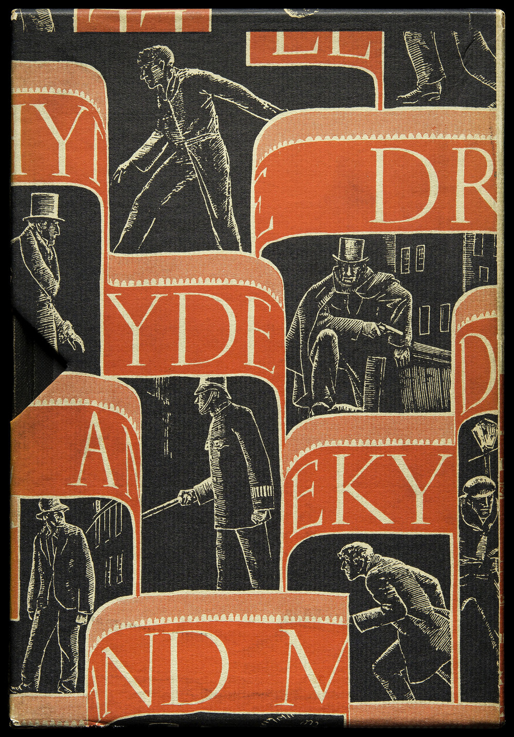 Slipcase for  Strange Case of Dr. Jekyll and Mr. Hyde  by Robert Louis Stevenson, Random House, New York, 1929, 14 x 20.3 cm