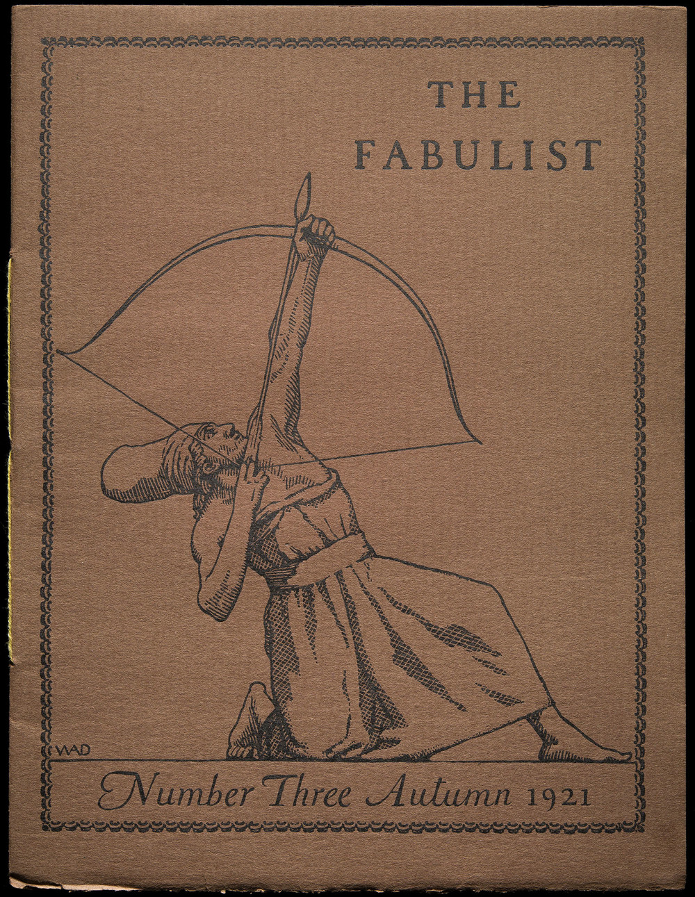 The Fabulist  Number Three, Boston, 1921, 18.3 x 24 cm