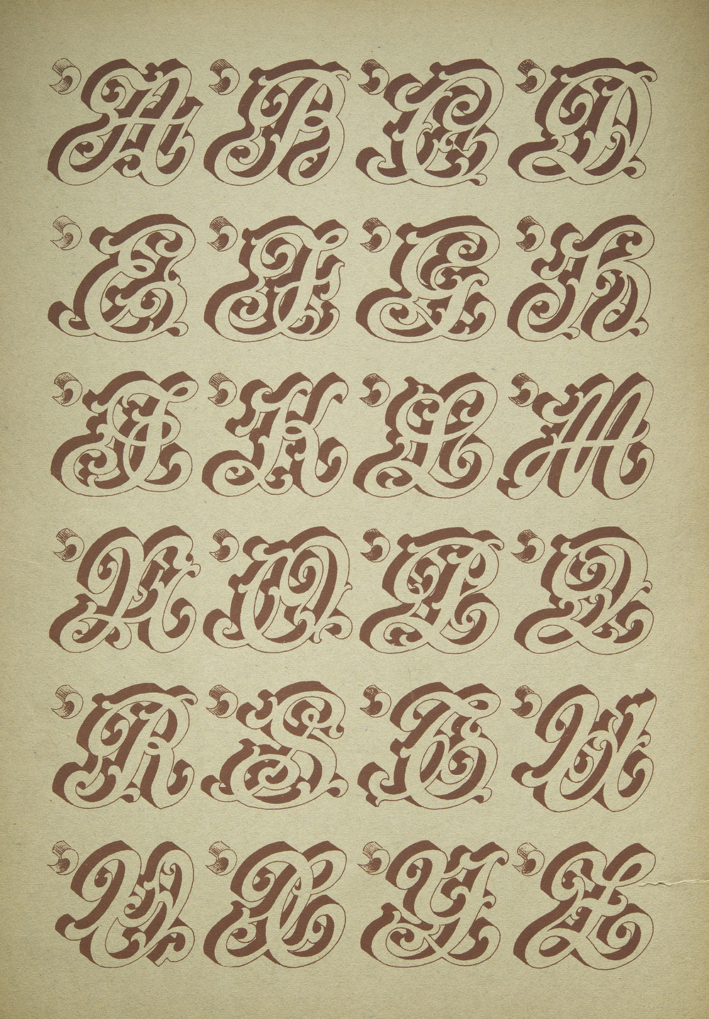 Anonymous French Sign Painter's Alphabet, Paris, nd, 27 x 40 cm