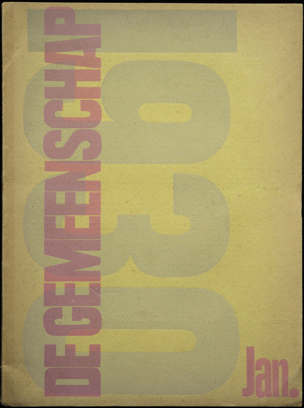Anonymous, cover design of De Gemeenschap, Utrecht, 1930, 18.6 x 25 cm
