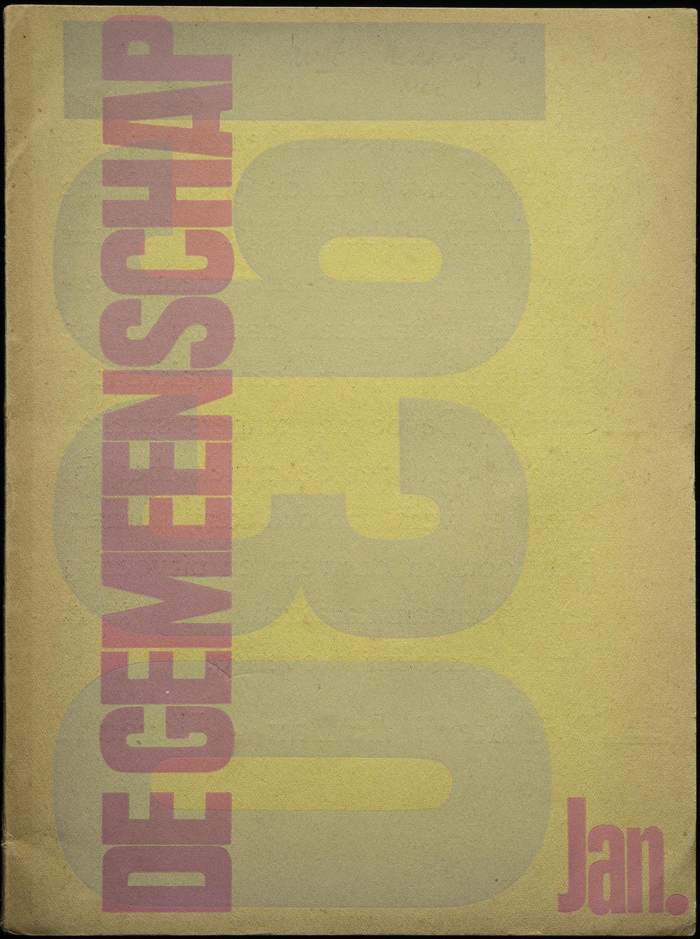 Anonymous, cover design ofDe Gemeenschap, Utrecht, 1930, 18.6 x 25 cm