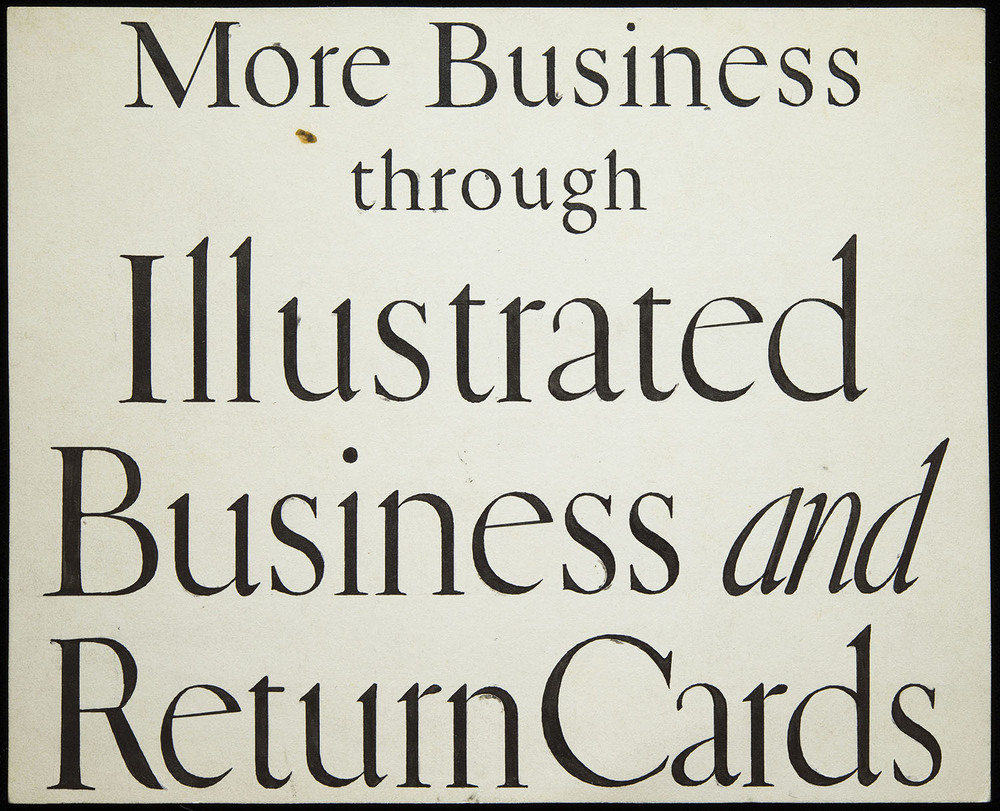 Original lettering for Warren's Paper, circa 1920, 17.5 x 14.3 cm
