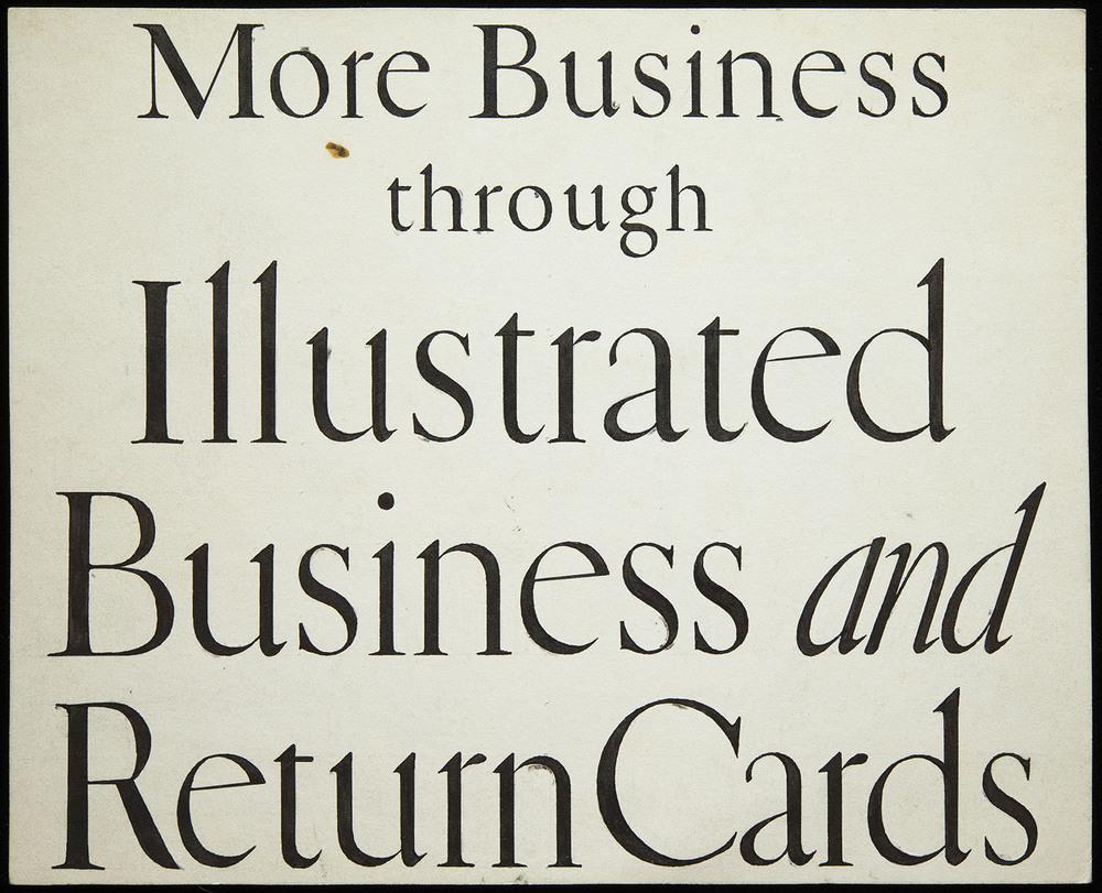 Original lettering for Warren's Paper, circa 1920, 17.5 x 14.3 cm