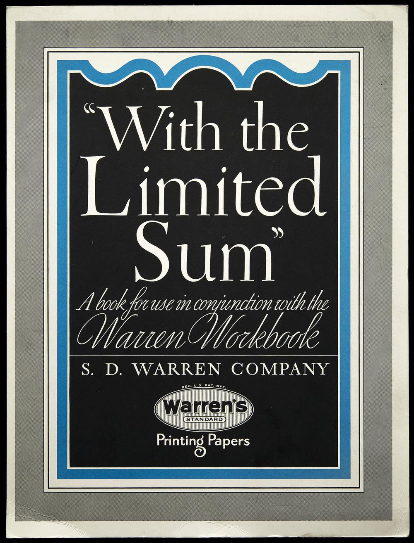 Brochure for Warren's Paper, circa 1930, 21 x 28 cm