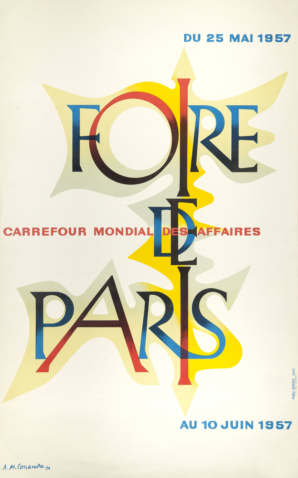 JANUARY     A M Cassandre, poster for Foire de Paris, 1956