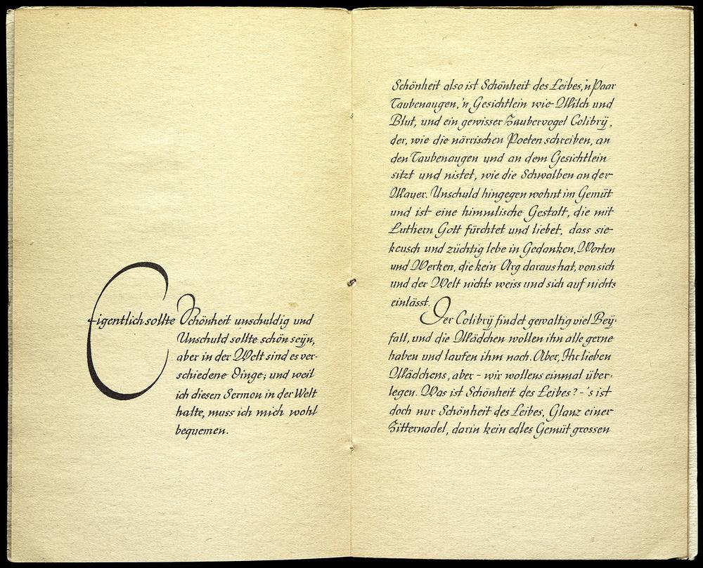 APRIL  Rudo Spemann, Sermon an die Mädchen by Matthias Claudius, Wilhelm Langewiesche, Ebenhausen, 1936, 26 x 21.5 cm