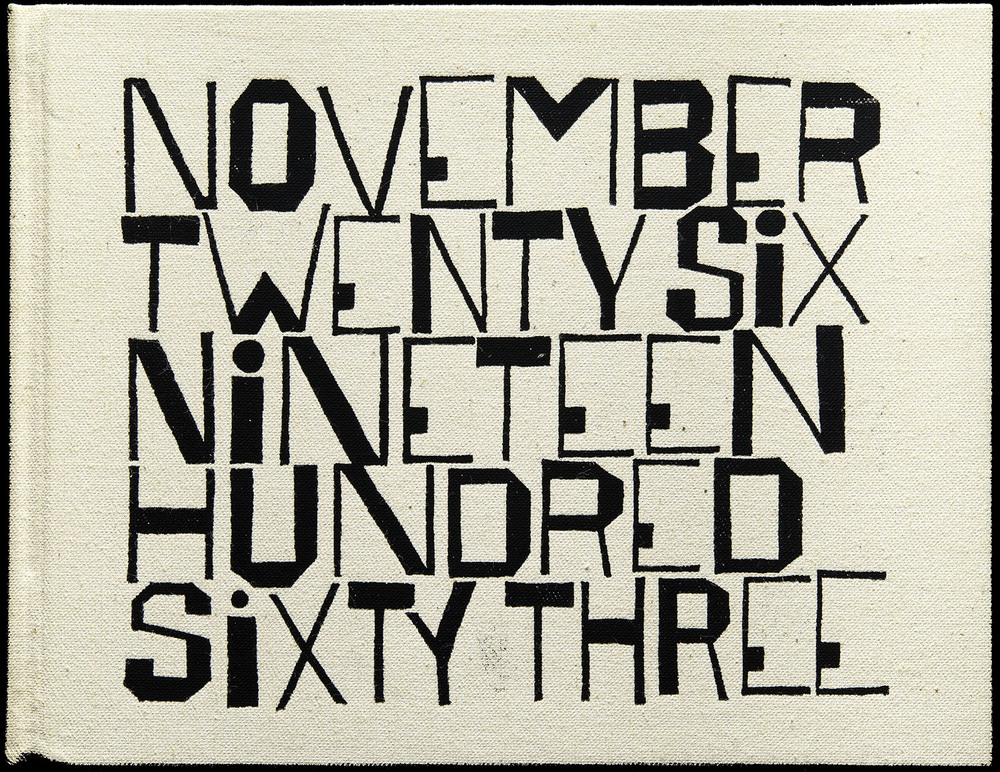 SEPTEMBER  Ben Shahn,  November Twenty Six Nineteen Hundred Sixty Three  by Wendell Berry, George Braziller, New York, 1964, 23.5 x 18.3 cm