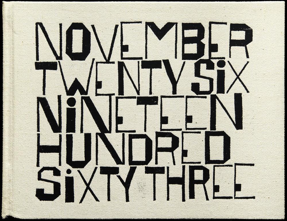 SEPTEMBER  Ben Shahn, November Twenty Six Nineteen Hundred Sixty Three by Wendell Berry, George Braziller, New York, 1964, 23.5 x 18.3 cm