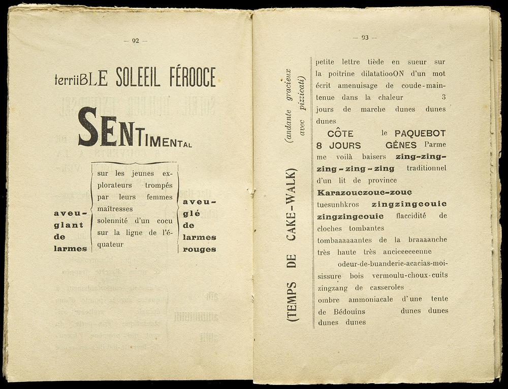 DECEMBER  Filippo Marinetti,  Les Mots en Liberté Futuristes , Edizionii Futuriste di Poesia, Milan, 1919, 25 x 19.3 cm