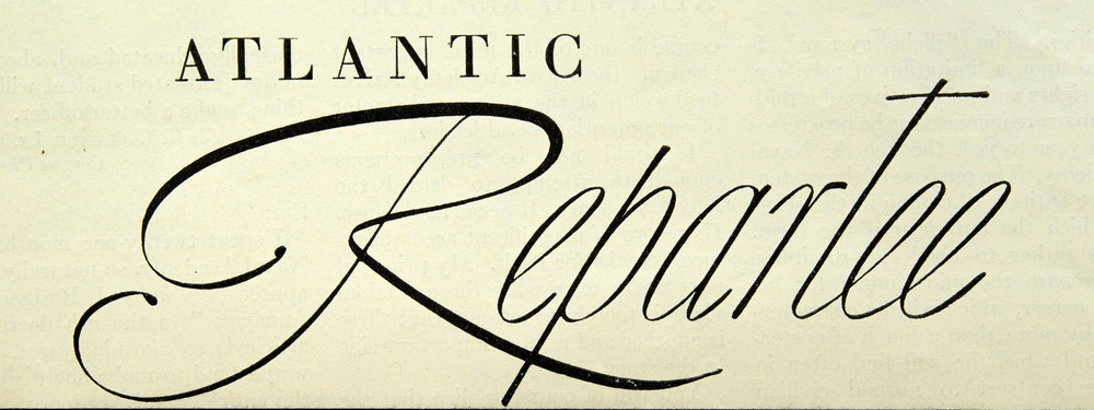 A headline for the  Atlantic Monthly , circa 1935, 15 cm wide