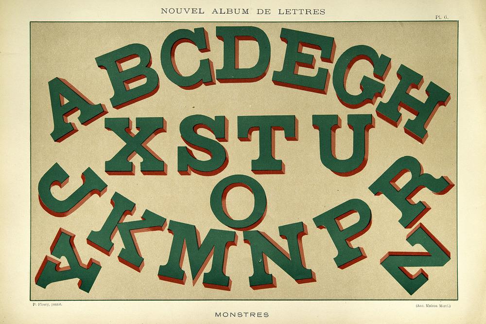 P. Fleury, plate from Nouvel Album de Lettres Peintes , Libraries-Imprimeries Réunies, Paris, 1903, 45 x 31 cm