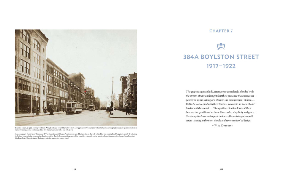 Chapter opening spread from the upcoming book, which is organized by place and time
