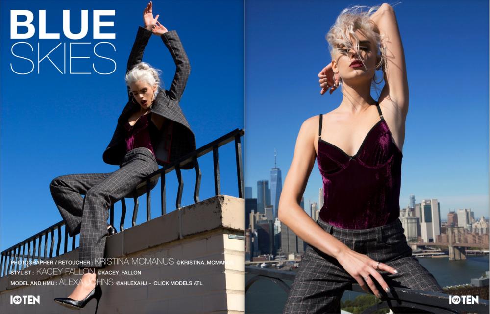 Blue Skies for Ten10 Magazine